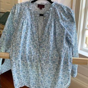 J.crew Cotton poplin classic popover shirt, sz S